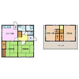 [一戸建] 三重県名張市富貴ケ丘2番町 の賃貸【/】の間取り