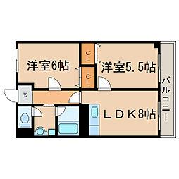 滋賀県大津市別保1丁目の賃貸マンションの間取り