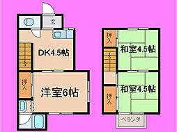 [一戸建] 滋賀県大津市大江4丁目 の賃貸【/】の間取り
