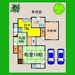[一戸建] 滋賀県大津市国分1丁目 の賃貸【/】の間取り