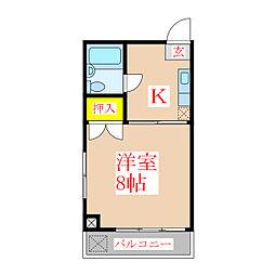 メゾンソレイユ[5階]の間取り
