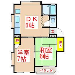 第五濱田ビル [2階]の間取り