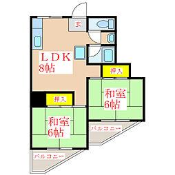 鮫島米穀ビル [3階]の間取り