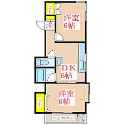 ハイアット21堀江町[4階]の間取り