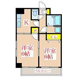 サンライズ福永 [5階]の間取り