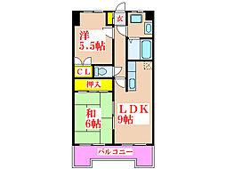 こうかマンション[6階]の間取り