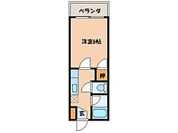 エクステンド清水町[3階]の間取り