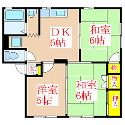 ソファレ玉里A棟 [2階]の間取り