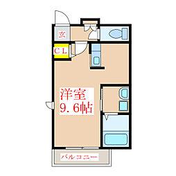 クラヴィエ新照院(管理)[2階]の間取り