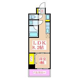 CENTRE VILLAGE[4階]の間取り
