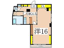 小川町ビル (管理)[4階]の間取り