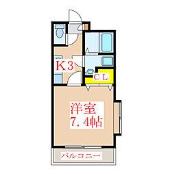 ParkSide葉月館[1階]の間取り