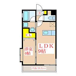プランドールコート[4階]の間取り