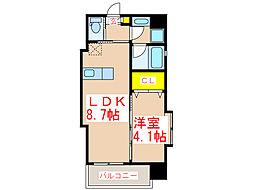 Links court IZUMI[6階]の間取り