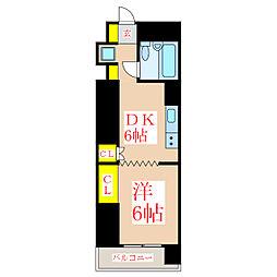 ファッションハイツ城山 豊栄ハウス[5階]の間取り