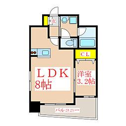 A-STEP甲突[6階]の間取り