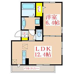 エスポワール弐番館[1階]の間取り