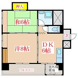 床次ビル (加治屋町)[6階]の間取り
