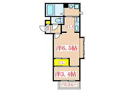 カレラ[3階]の間取り