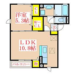 コンフォール西田[1階]の間取り