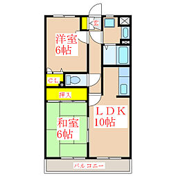 NAKAMA B.L.DII[2階]の間取り