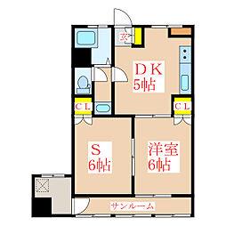 菊屋ビル[7階]の間取り