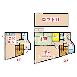 てーちハウス[101号室]の間取り
