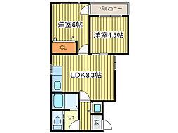 ?NEXT札幌第14[4階]の間取り