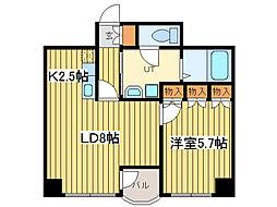 ロイヤルコート33[5階]の間取り