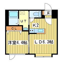 エクセレント34[6階]の間取り
