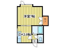 シャトリエ元町[2階]の間取り