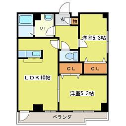 ヴィアーレ21[3階]の間取り