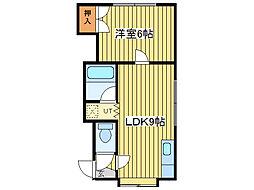 コンフォートN48[3階]の間取り