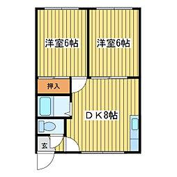 元町ホワイトハイツ[2階]の間取り