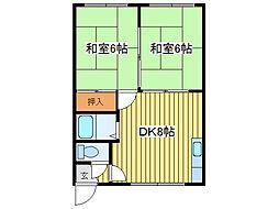 元町ホワイトハイツ[103号室]の間取り