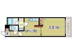 ベル31B[4階]の間取り