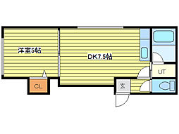 N21E19MS[2階]の間取り