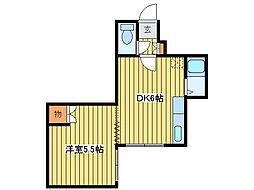 サニープレイス北21A[3階]の間取り
