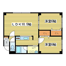 レ・グラン元町[3階]の間取り