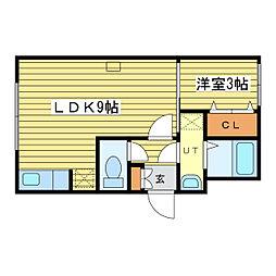 エルマーノN24[1階]の間取り