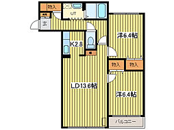 ノルデン46[2階]の間取り