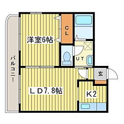 北海道札幌市東区北二十三条東17丁目の賃貸マンションの間取り