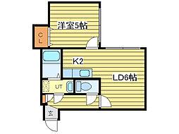 ハイム東環駅[2階]の間取り