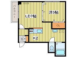 パレス154[10階]の間取り