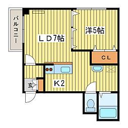 パレス154[9階]の間取り