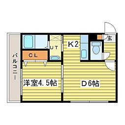 ハイムハイライトIII[2階]の間取り