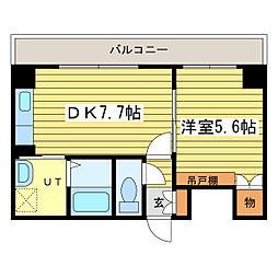 テムデック栄町[7階]の間取り