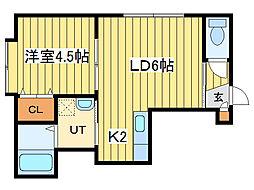 アクア18[3階]の間取り