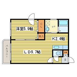 エストフォーレ16II[2階]の間取り