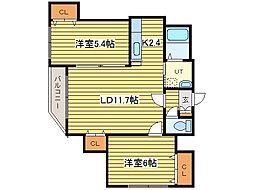 リエタメンテN16[4階]の間取り